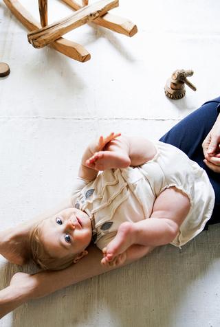 Alabama chanin organic baby dress set 3