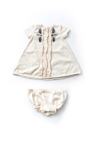 Alabama chanin organic baby dress set 4