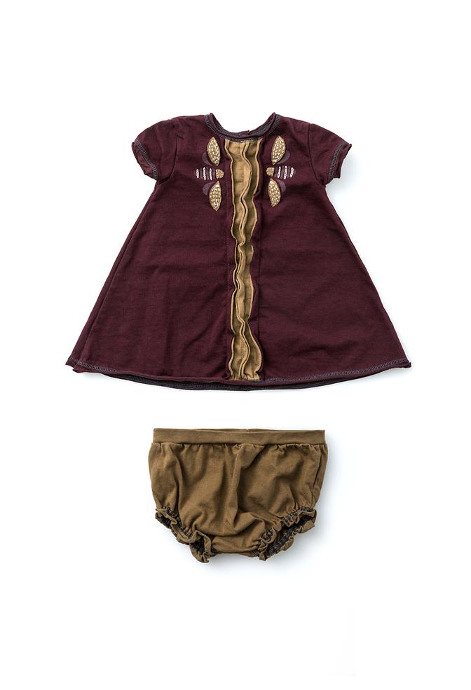 Alabama chanin organic baby dress set 5