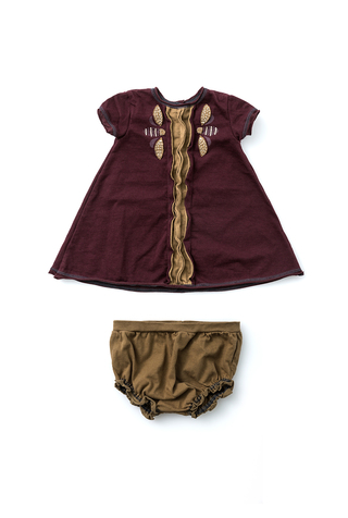 Alabama chanin organic baby dress set 5