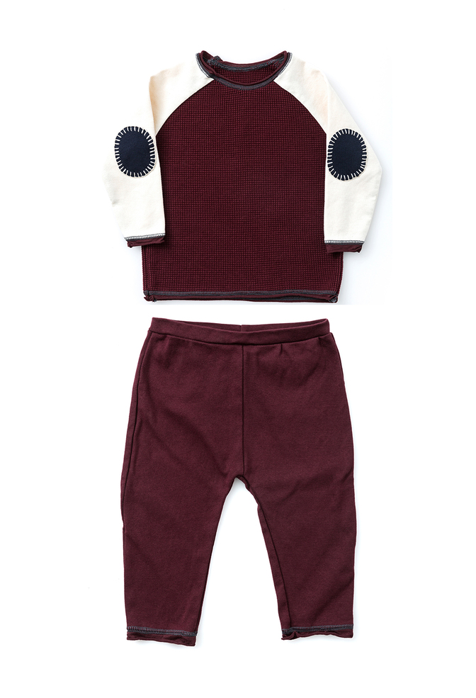 Waffle raglan pants set   plum natural plum   burt's bees baby   november 2018   abraham rowe 4