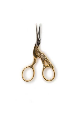 Gold-Handled Stork Scissors