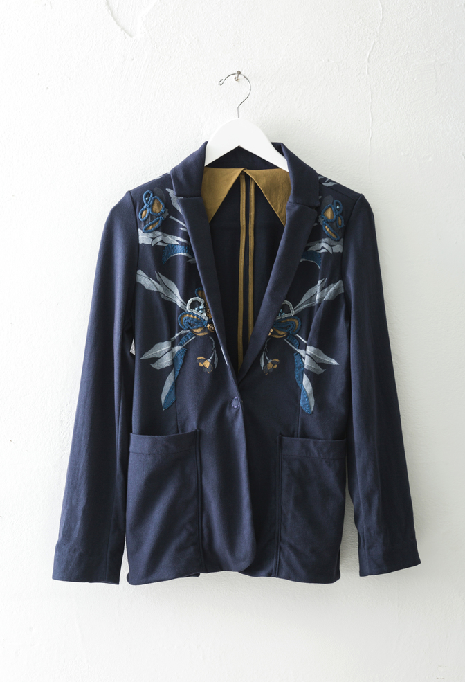 Alabama chanin embroidered blazer 5