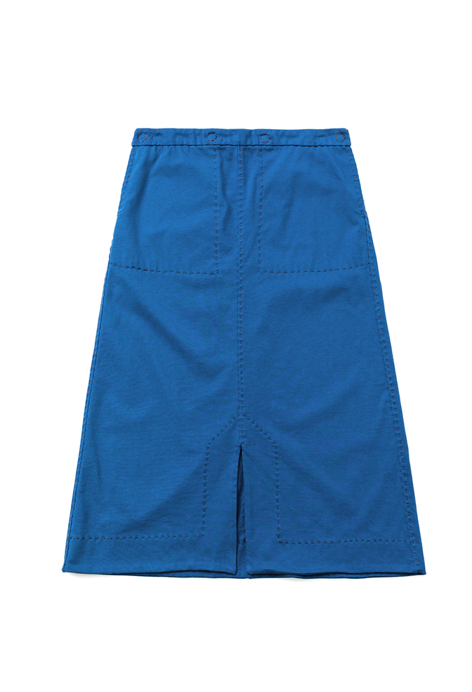 Alabama chanin patch pocket midi skirt 3