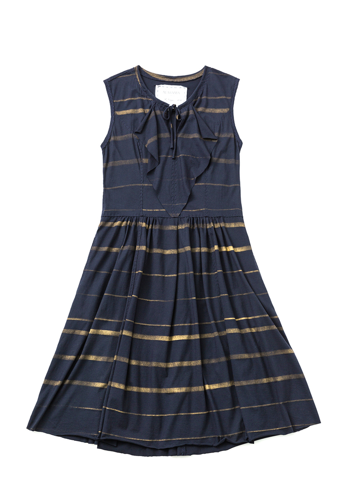 Alabama chanin striped pullon dress 1