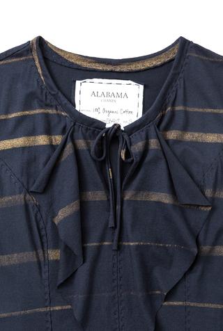 Alabama chanin striped pullon dress 2