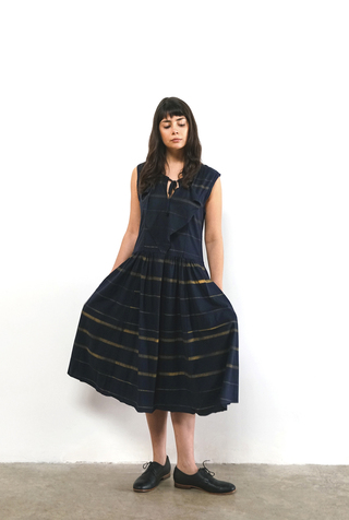 Alabama chanin striped pullon dress 4