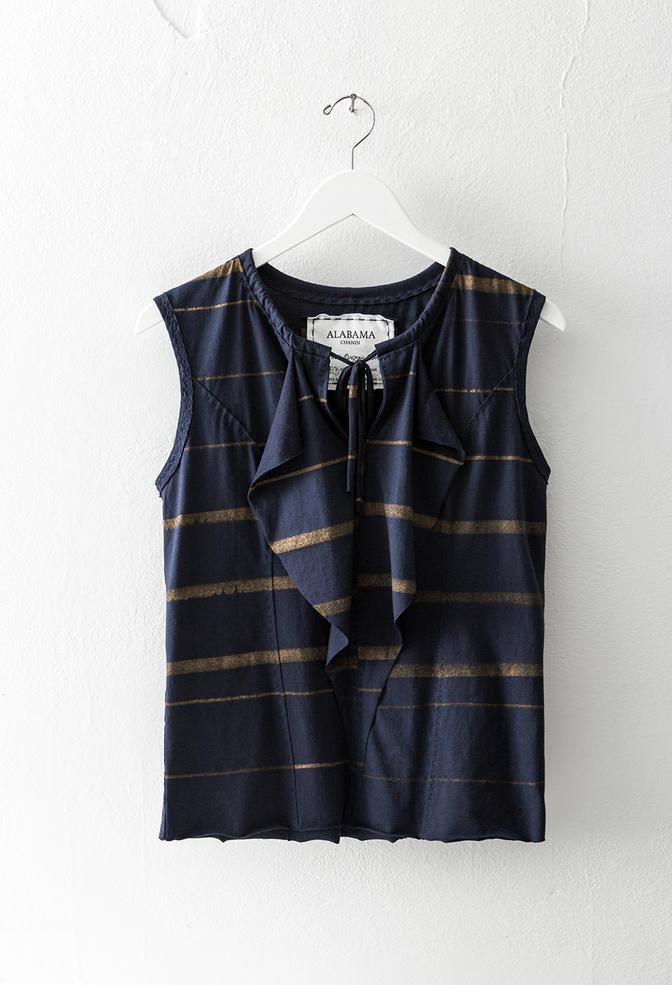 Alabama chanin cotton ruffled blouse 3