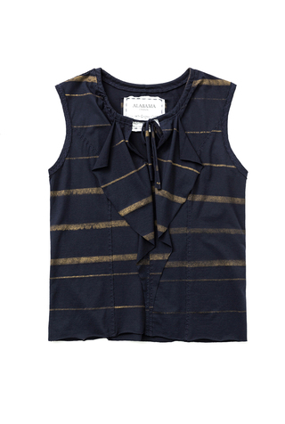 Alabama chanin cotton ruffled blouse 5