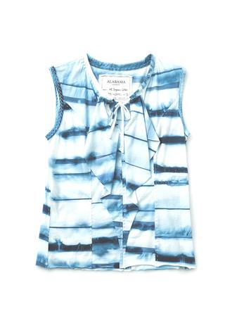 Alabama chanin cotton ruffled blouse 4
