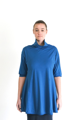 Alabama chanin relaxed turtleneck tunic 1
