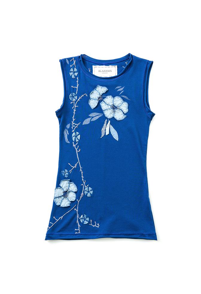 Alabama chanin embroidered sleeveless top 3
