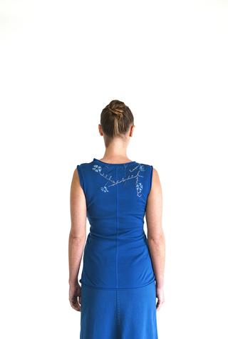 Alabama chanin embroidered sleeveless top 2