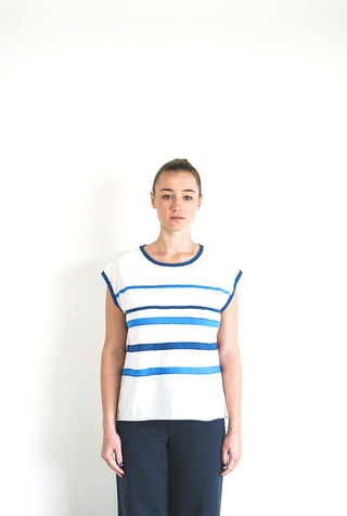 Alabama chanin applique striped muscle tee 3
