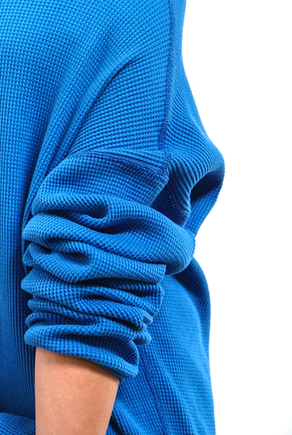 Alabama chanin indigo waffle knit sweatshirt 2