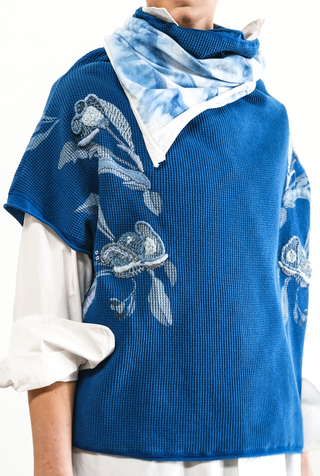 Alabama chanin embroidered waffle sweatshirt 3
