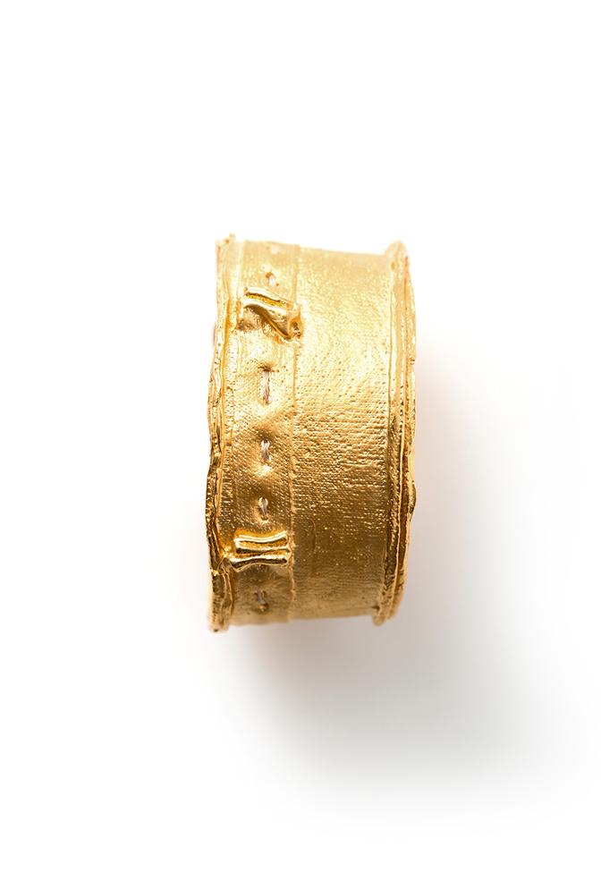 Alabama chanin jewelry cast fabric cuff bracelet 11