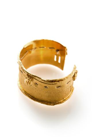 Alabama chanin jewelry cast fabric cuff bracelet 13