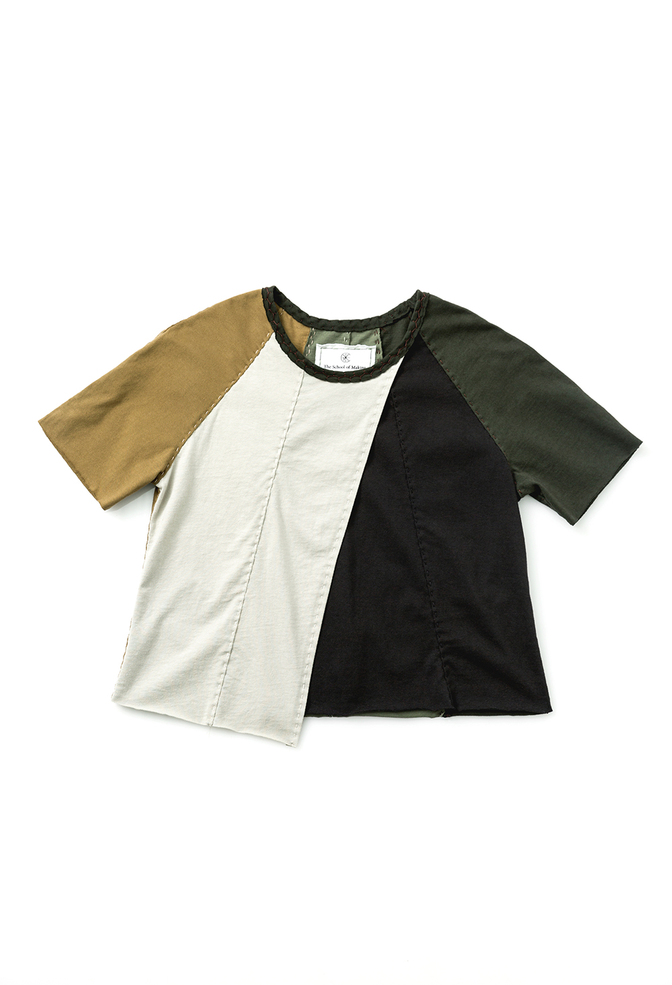 Fractal crossover top   colorblock   black parchment forest ochre   28494   build a wardrobe 2019   abraham rowe 1
