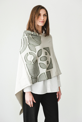 The school of making abstract placement poncho diy kit 1