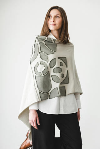 The school of making abstract placement poncho diy kit 2