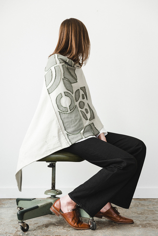 Abstract Negative Reverse Placement Poncho DIY Kit