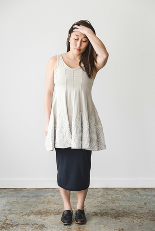 The school of making fern panel tunic diy kit 2