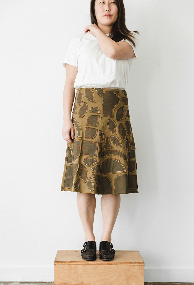The school of making abstract variegated swing skirt diy kit 1