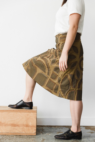 The school of making abstract variegated swing skirt diy kit 2