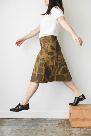 The school of making abstract variegated swing skirt diy kit 3