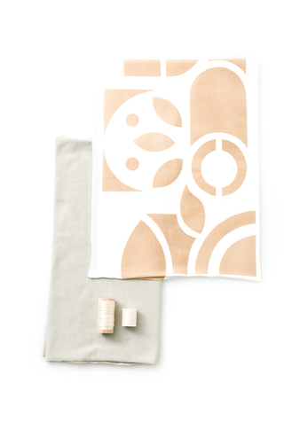 The school of making abstract placement scarf diy kit 2