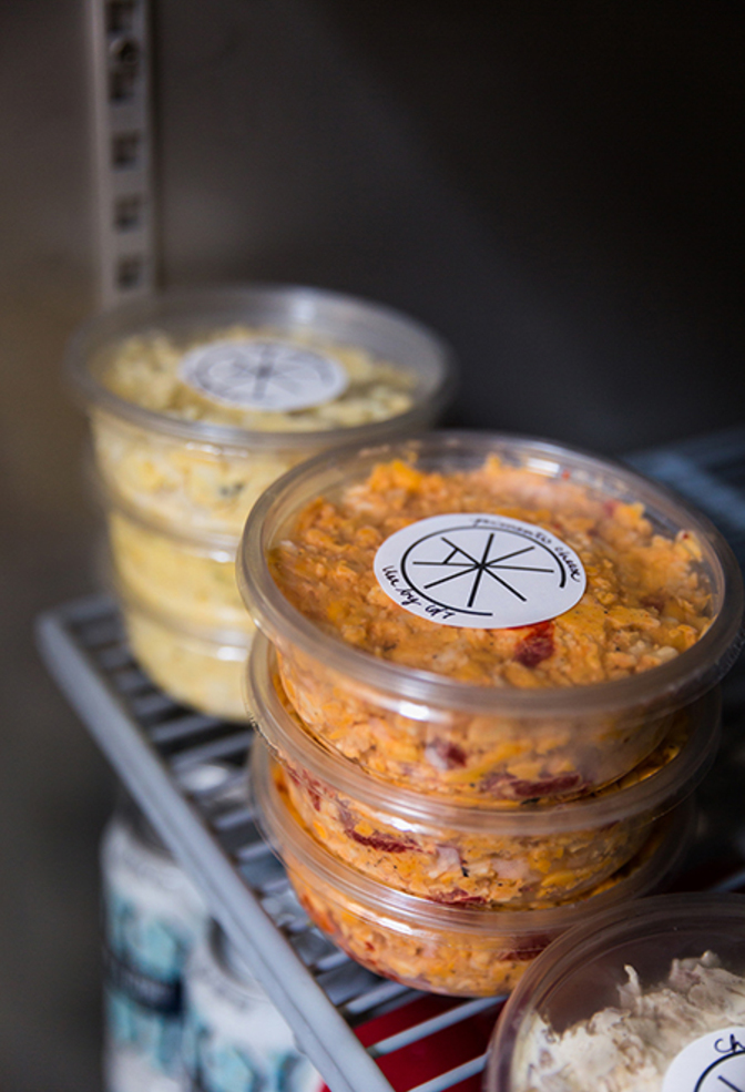 Alabama chanin the factory cafe monday cooler pimento cheese