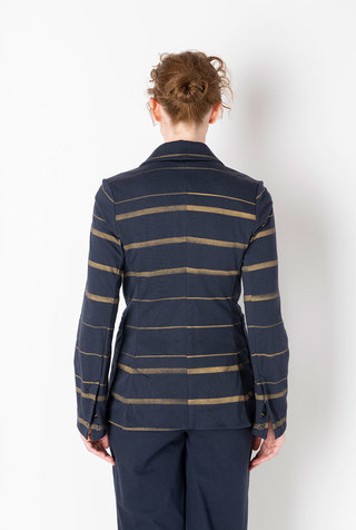 Alabama chanin striped cotton blazer 2