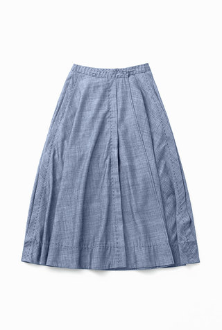 Alabama chanin chambray organic handsewn leighton long skirt 1
