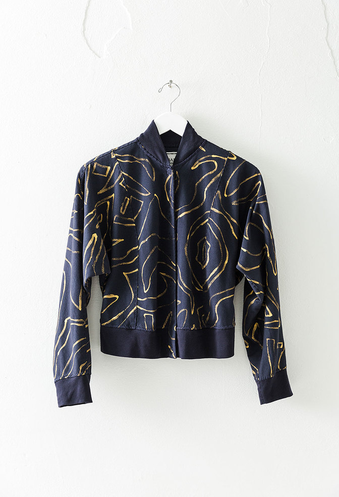 Alabama chanin abstract bomber jacket 3