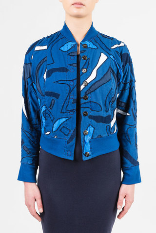 Alabama chanin embroidered bomber jacket 1