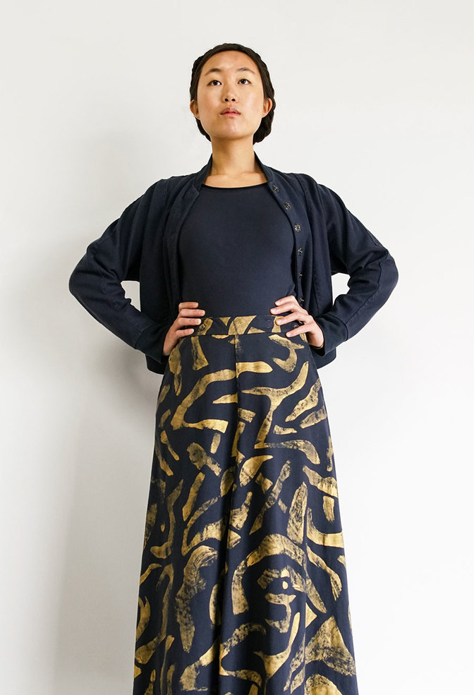 Alabama chanin abstract full skirt 3