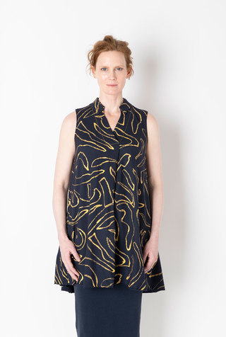 Alabama chanin abstract cotton tunic 4