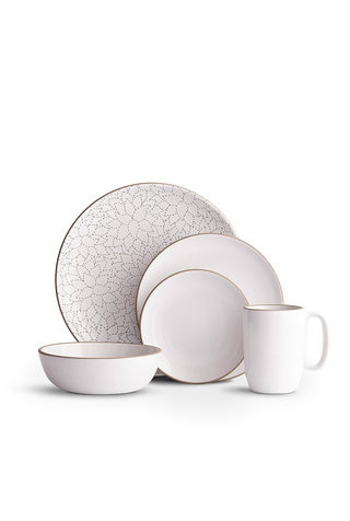 Camellia Opaque White Dinnerware Set