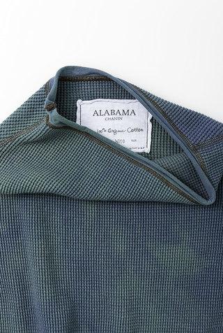 Alabama chanin indigo waffle top