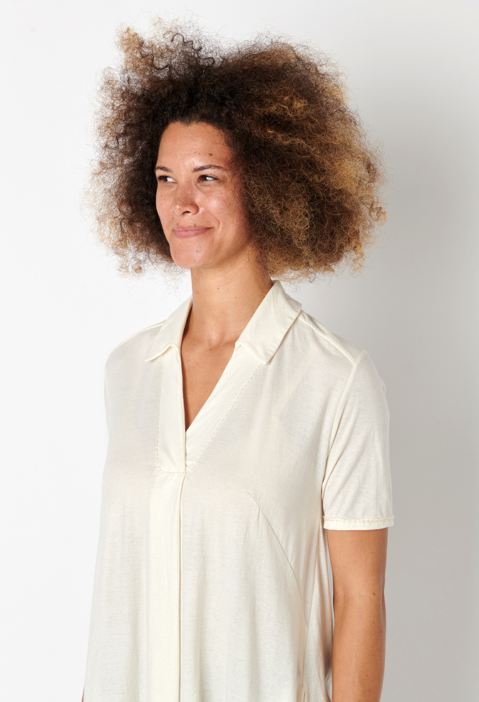 Alabama chanin flowy lightweight cotton tunic 2