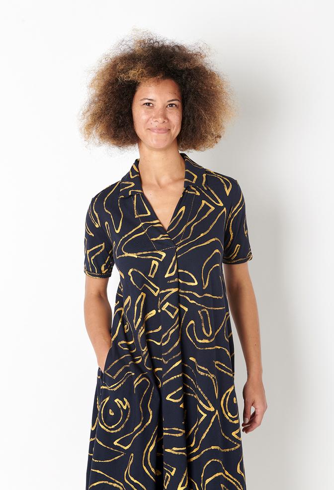Alabama chanin flowy painted lighweight dress 6