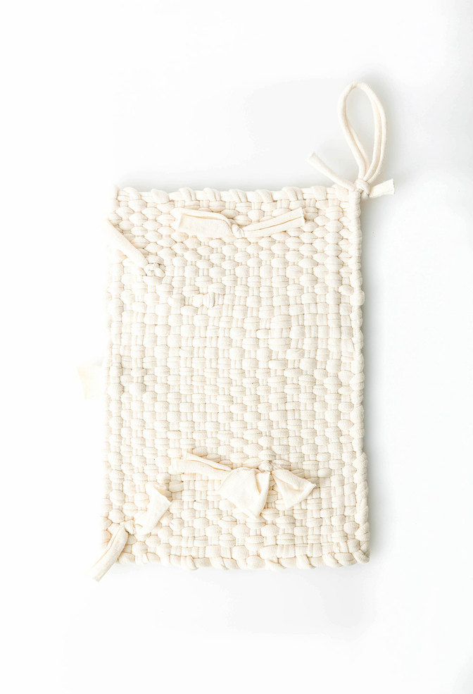 Alabama chanin hand woven jersey potholder1