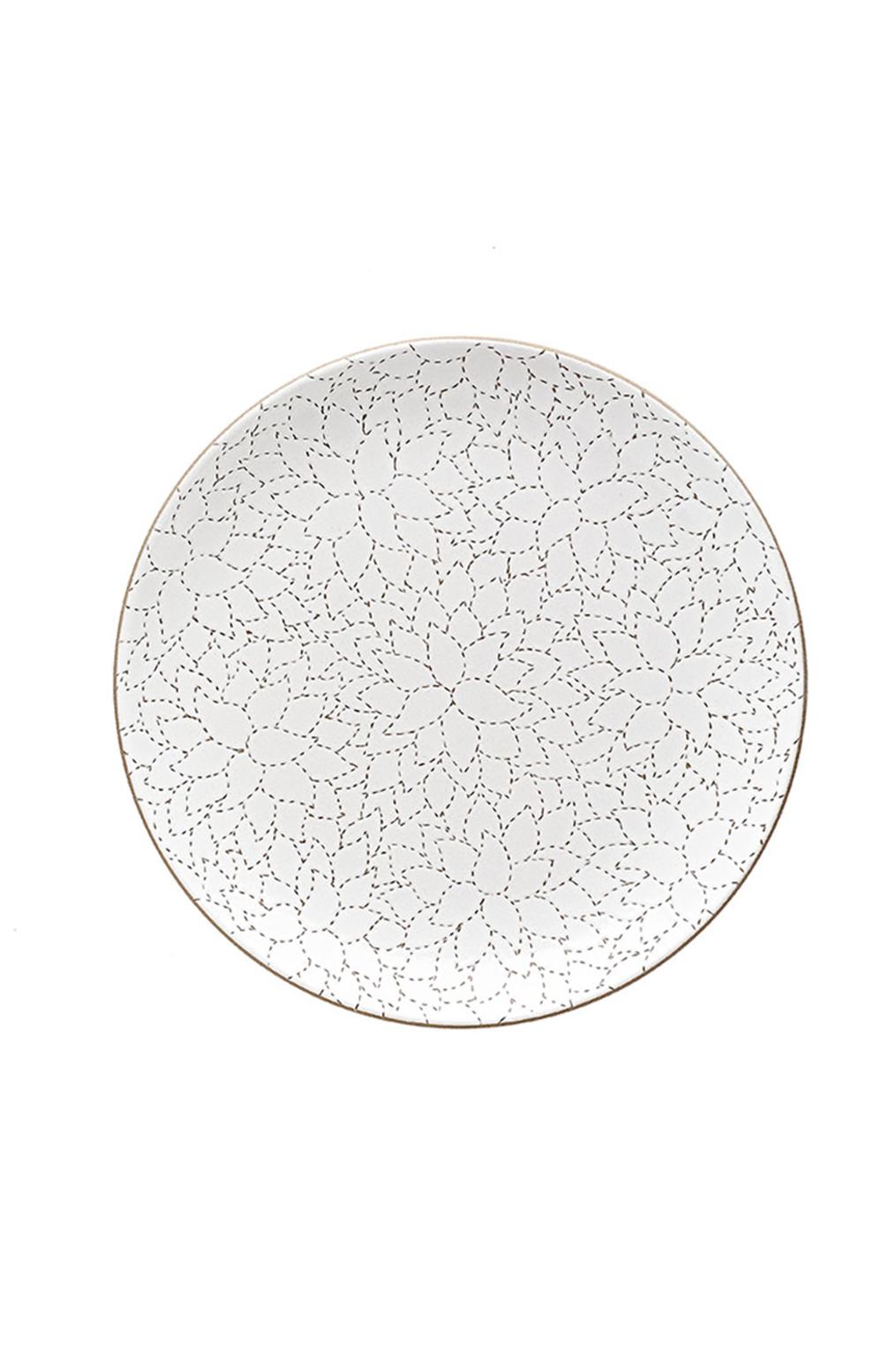 Heath ceramics alabama chanin camellia etched dinner plate2