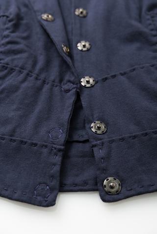 Alabama chanin cropped cotton jacket 4