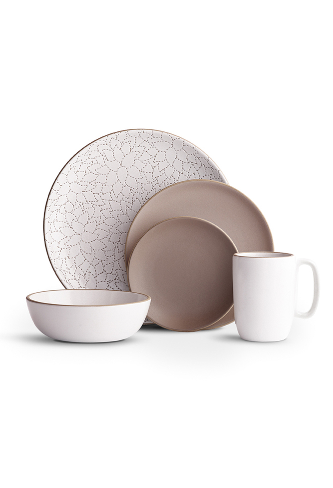 Camellia cocoa dinnerware set   heath ac 105   heath ceramics