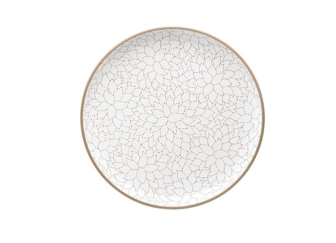 Camellia Etched Serving Platter