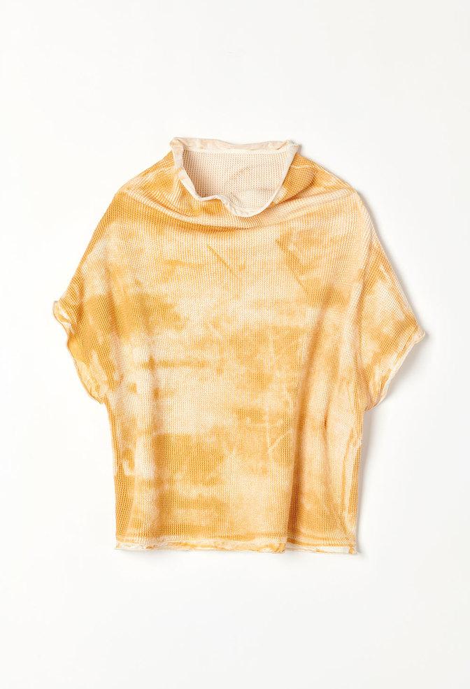Alabama chanin gold waffle sweatshirt