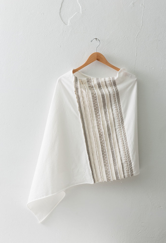 The school of making striped poncho diy kit