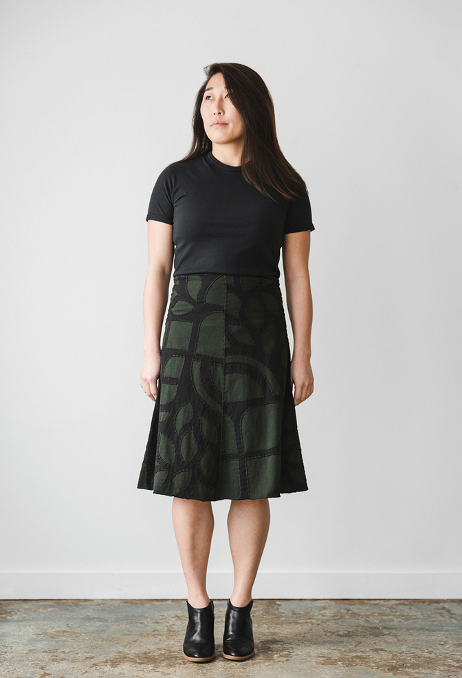 The school of making abstract swing skirt diy kit 1